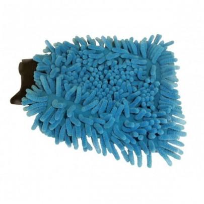 Gant de lavage Micro-Fibre ''Rasta'' bleu