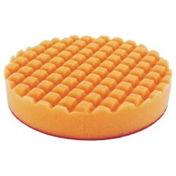 Mousse de polissage D150mm 28mm orange quadrille